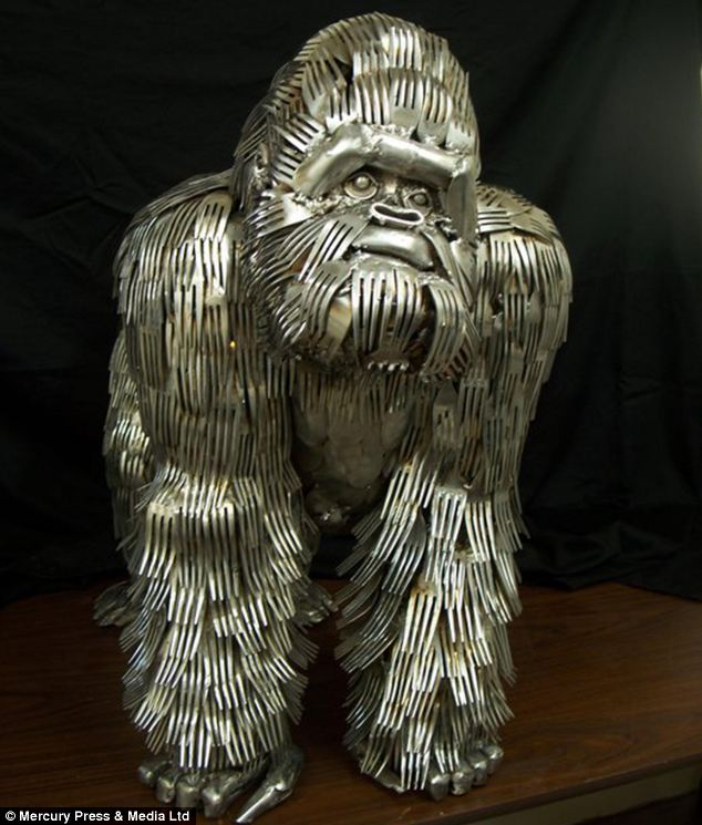 Gorilla sculpture - by Gary Hovey
